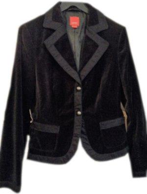 ESPRIT Samt-Blazer, schwarz