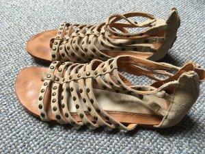 Esprit High-Heeled Sandals beige-black brown