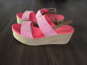 edc by Esprit Espadrille Sandals pink-white