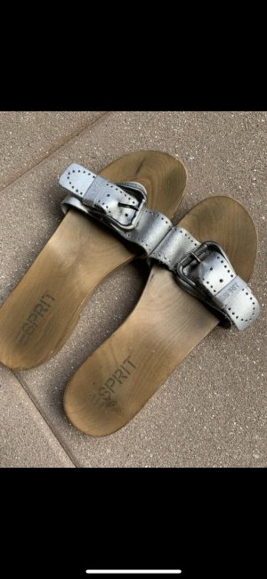 Esprit Clog Sandals silver-colored