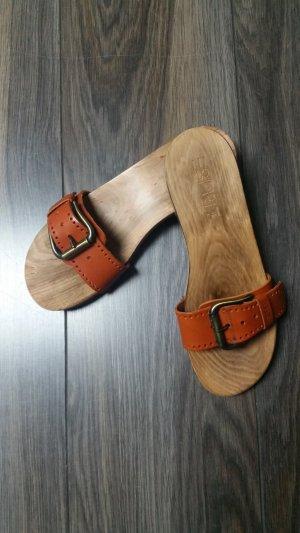 Esprit Clog Sandals neon orange leather