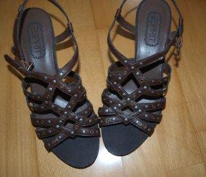 Esprit Sandalen / Sandaletten - Gr. 37 - braun -mit Nieten - NEU