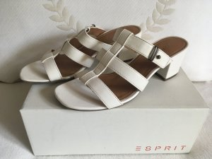 Esprit Strapped High-Heeled Sandals white