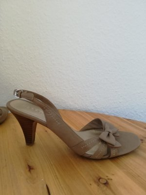 Esprit Strapped High-Heeled Sandals beige-light brown
