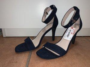 Esprit Strapped High-Heeled Sandals dark blue