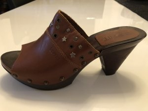 Esprit Heel Pantolettes brown leather