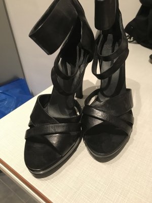Esprit High-Heeled Sandals black leather