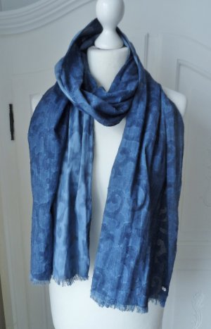 Esprit Scarf blue cotton