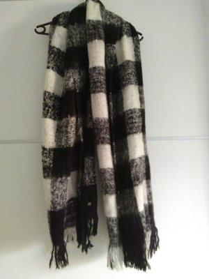 Edc Esprit Bufanda de lana blanco-negro
