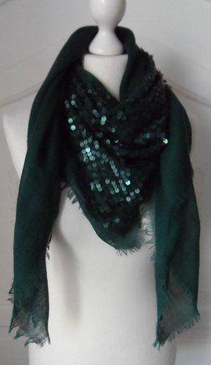 ESPRIT Schal / Tuch mit Pailletten Dunkelgrün 1 x getragen