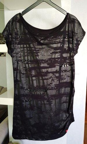 Esprit Schickes Long Shirt mit Rubber Print Schwarz S