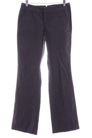 Esprit Pantalón de campana gris antracita estampado a rayas look casual