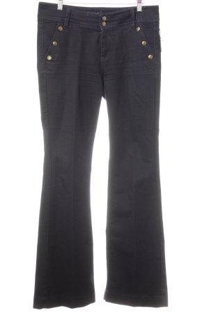 Esprit Pantalon pattes d'éléphant bleu foncé style décontracté