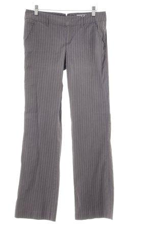 Esprit Schlaghose grau-wollweiß Streifenmuster Business-Look