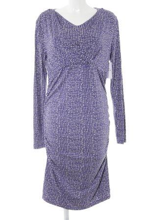 Esprit Robe tube blanc-violet foncé motif abstrait style décontracté