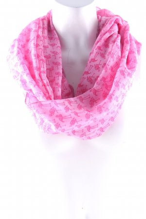 Esprit Tube Scarf neon pink-magenta animal pattern casual look