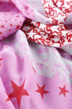 Esprit Schlauchschal rosa-rot Sternenmuster Casual-Look