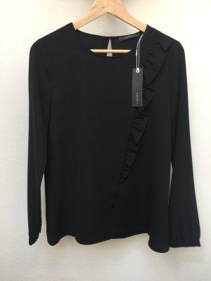 Esprit - Schlichte Bluse mit femininem Volant (NP 49,99 EUR)