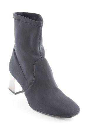 Esprit Schlüpf-Stiefeletten silberfarben-schwarz Elegant
