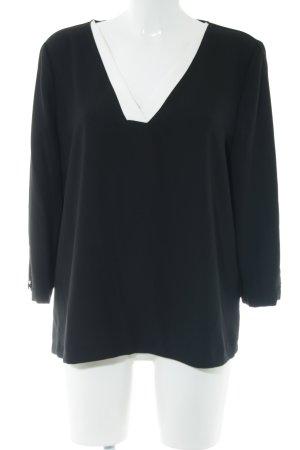 Esprit Schlupf-Bluse schwarz-weiß Business-Look