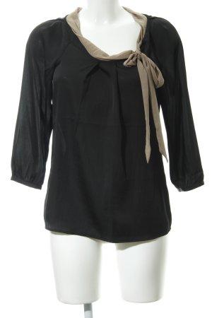 Esprit Schluppen-Bluse schwarz-grüngrau Elegant