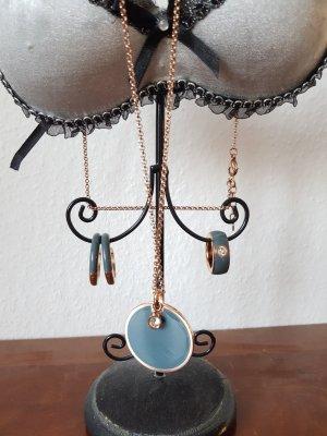 Esprit Schmuck Set Edelstahl Kette Ring Ohrringe