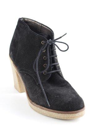 Esprit Schnür-Stiefeletten schwarz Casual-Look