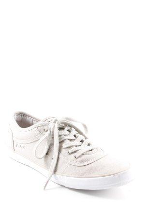 Esprit Schnürschuhe beige-weiß Casual-Look
