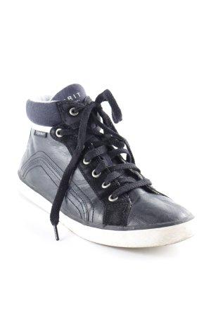 Esprit Schnürschuhe schwarz-dunkelblau Casual-Look