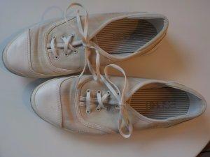 Esprit Lace Shoes gold-colored-light grey cotton