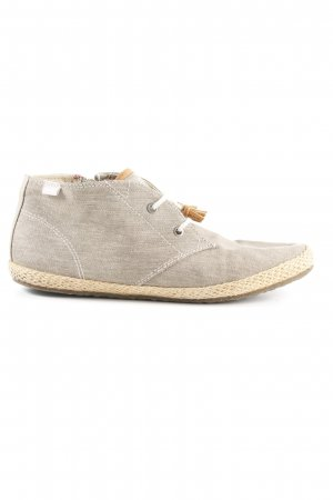 Esprit Zapatilla brogue beige moteado look casual