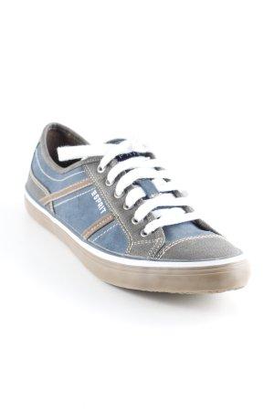 Esprit Schnürsneaker hellbraun-graublau schlichter Stil