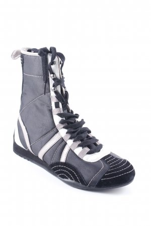 Esprit Lace-up Boots black-grey brown striped pattern casual look