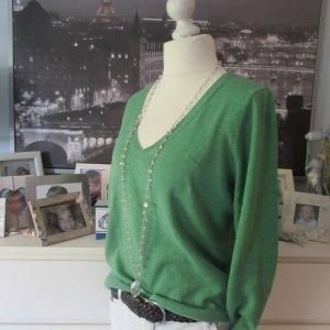 Esprit * Schöner Basic V-Neck Pullover * grün * XXL=42/44