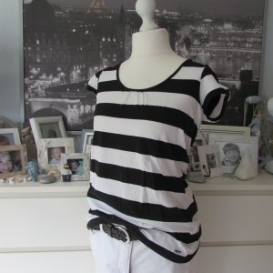 Esprit Camisa larga negro-blanco