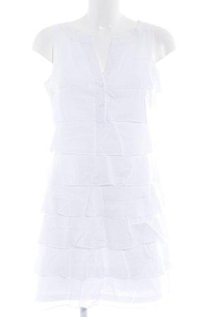 Esprit Vestido peplum blanco Estilo playero