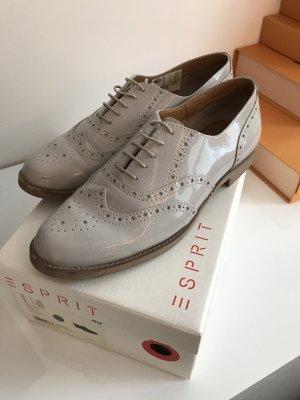 Esprit Schuhe Schnürschuhe Budapester grau 40