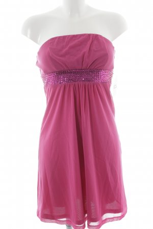 Esprit Robe épaules nues rose-magenta élégant