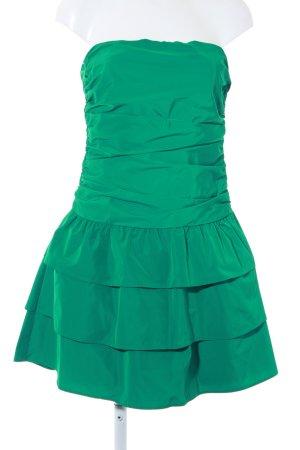 Esprit schulterfreies Kleid waldgrün Elegant