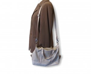 Esprit Shoulder Bag white-light grey mixture fibre