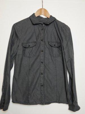 Esprit Blouse en jean noir coton