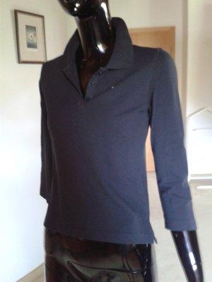 Esprit schwarzes Poloshirt mit Dreiviertelarm Gr. 36