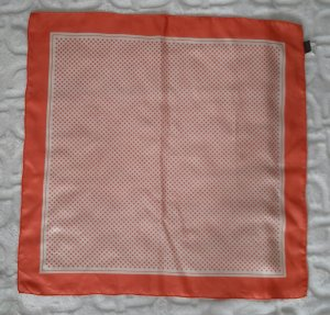 Edc Esprit Silk Scarf apricot-natural white silk