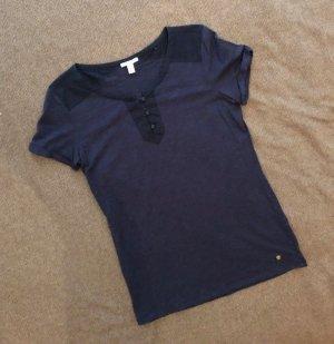 ESPRIT Shirt, blau, Größe M, Knöpfe am Dekolleté, sehr guter Zustand