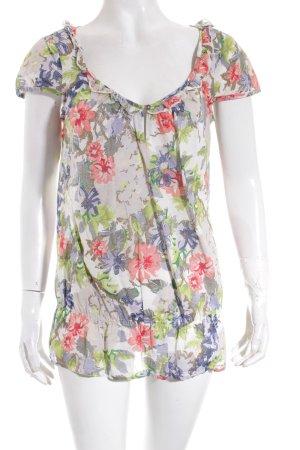Esprit Shirt Blumenmuster Metallknöpfe