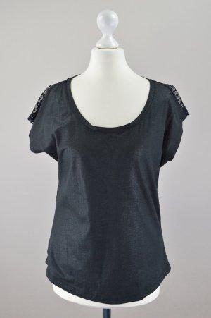 Esprit Shirt glänzend schwarz Größe XS