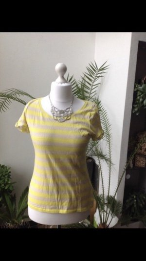 Esprit Gestreept shirt geel-licht beige