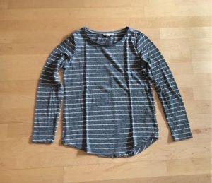 Esprit Shirt grau weiß gestreift, Größe S
