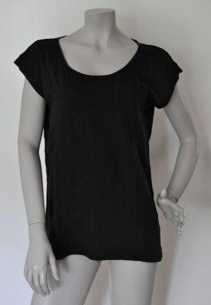 Esprit Shirt im Materialmix Baumwolle Polyester schwarz Gr. M