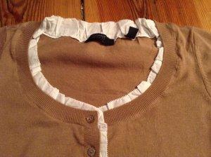 Esprit-Shirt kamelfarben mit weißem Blusenrand**